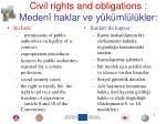 civil rights and obligations meden haklar ve y k ml l kler
