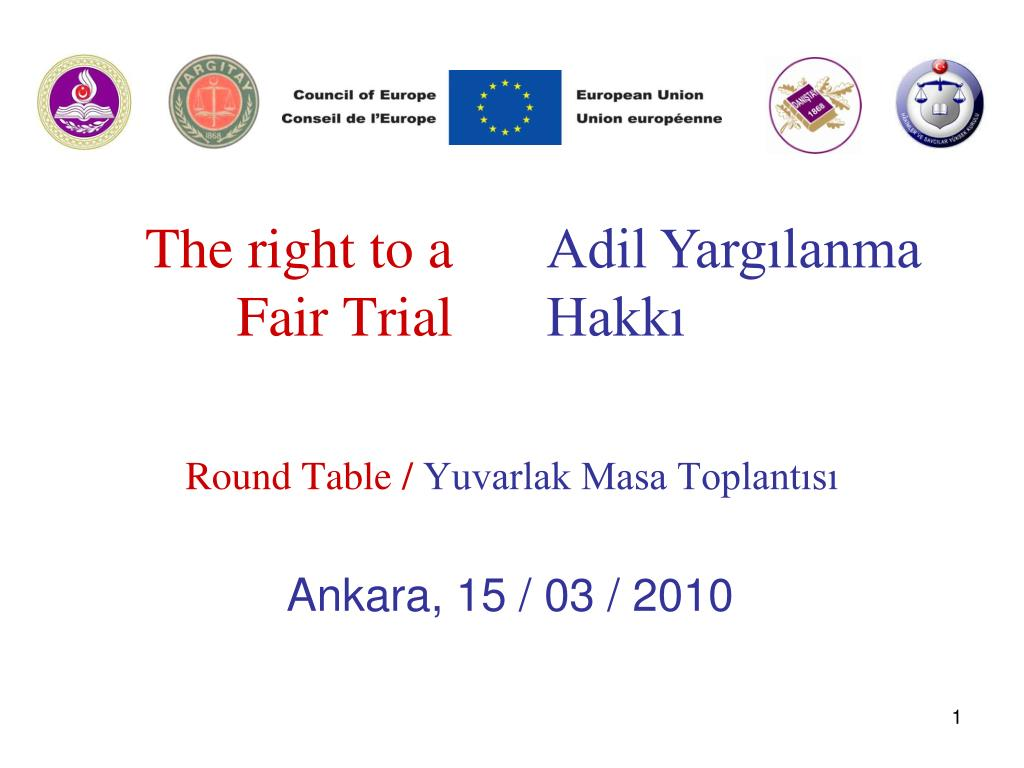 the right to a fair trial l.