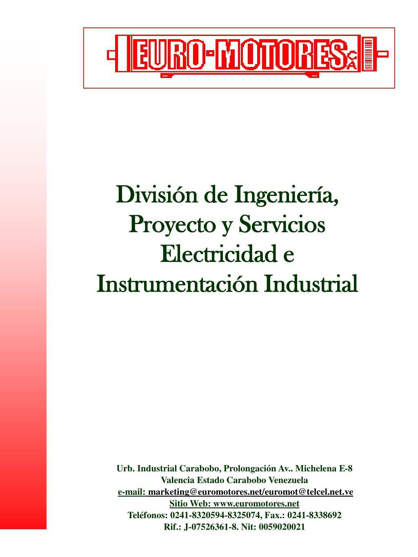 divisi n de ingenier a proyecto y servicios electricidad e instrumentaci n industrial l.