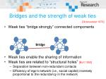 bridges and the strength of weak ties19