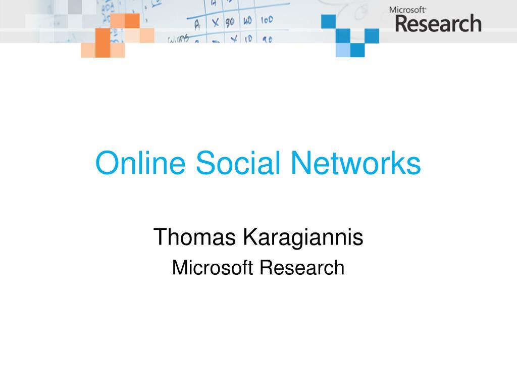 online social networks l.