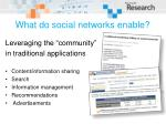 what do social networks enable