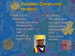 possible community helpers