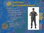 visit from serviceman woman