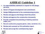 ashrae guideline 1