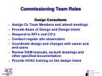 commissioning team roles67