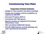 commissioning team roles72