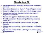 guideline o
