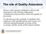 the role of quality assurance