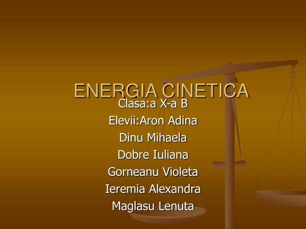 energia cinetica l.