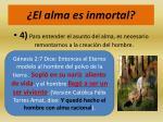 el alma es inmortal