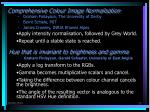 comprehensive colour image normalisation