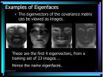 examples of eigenfaces