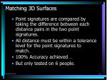 matching 3d surfaces