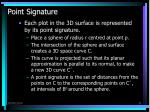 point signature