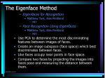 the eigenface method