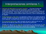 interpretaciones similares 1