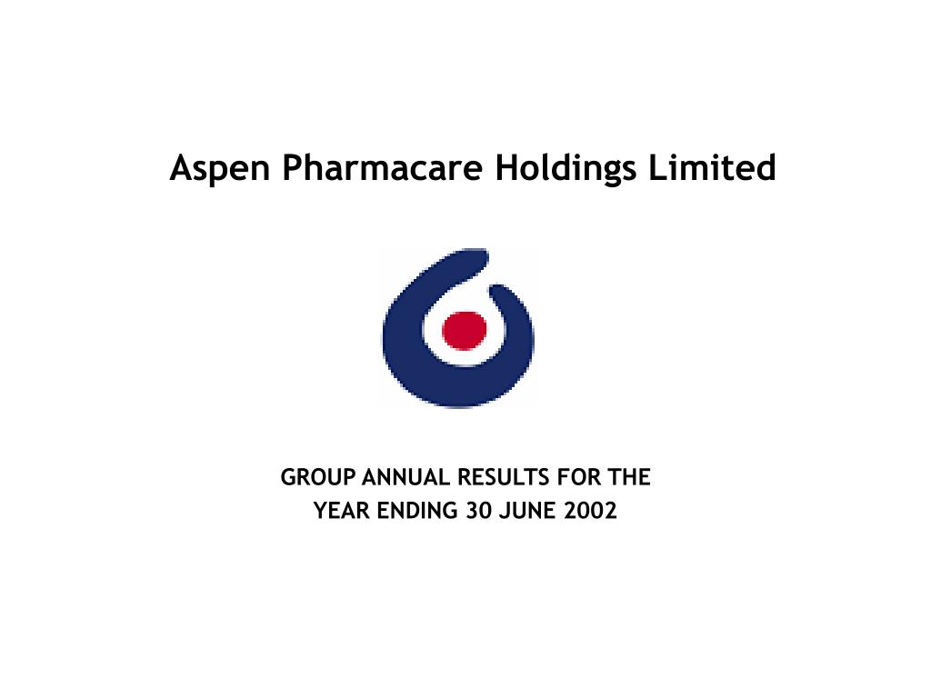 aspen pharmacare holdings limited l.