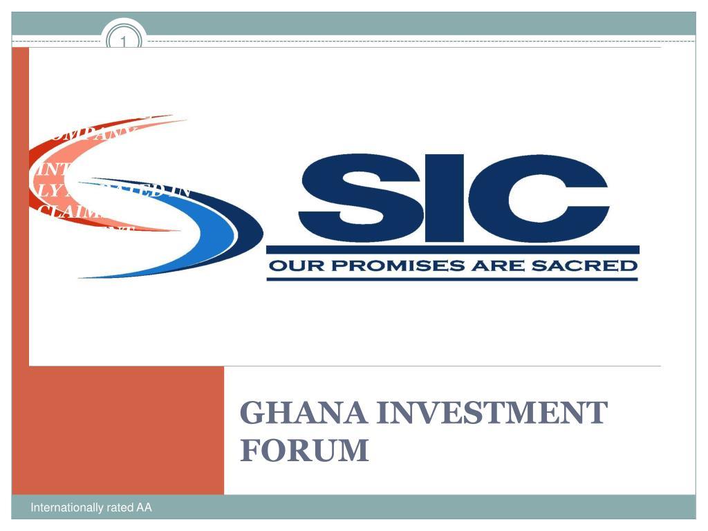ghana investment forum l.