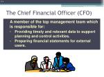 the chief financial officer cfo