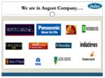 we are in august company10