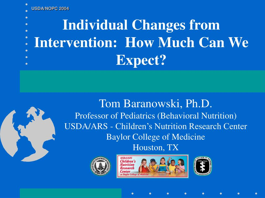 individual changes from intervention how much can we expect l.
