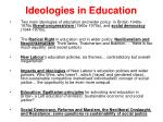 ideologies in education