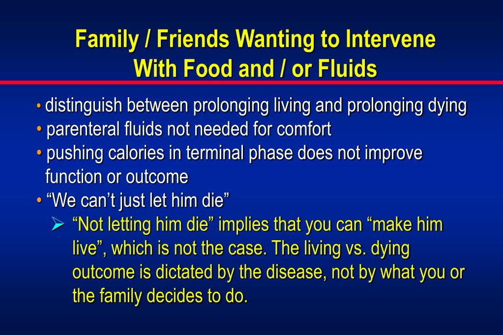 Family / Friends Wanting to Intervene