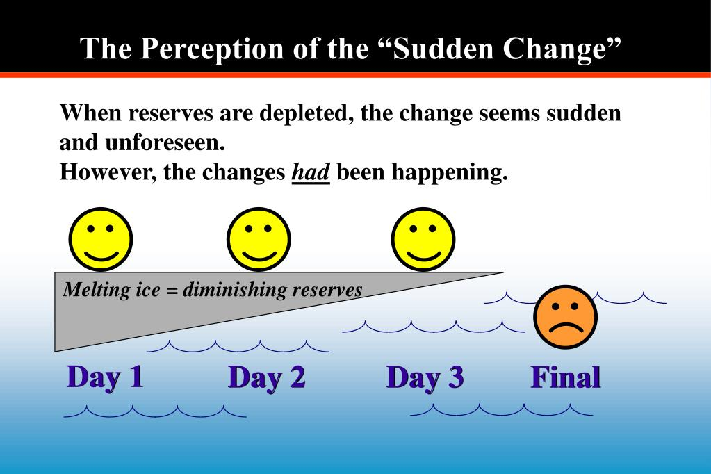 """The Perception of the """"Sudden Change"""""""