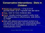 conservative interventions diets in children12