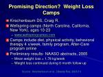 promising direction weight loss camps