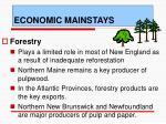 economic mainstays
