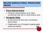 major agricultural producing areas