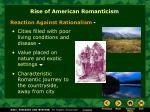 rise of american romanticism
