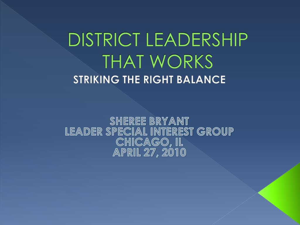 district leadership that works l.