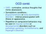 ocd contd