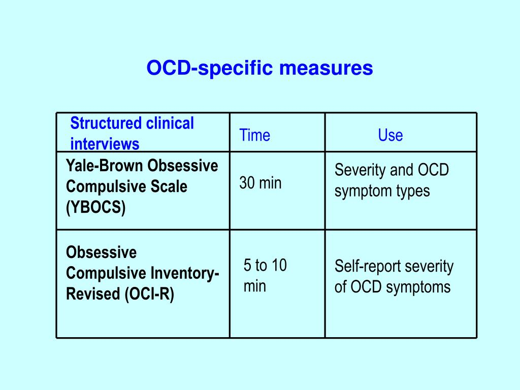 PPT - OCD and Psychiatric Co-morbidities PowerPoint ...