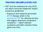 treating uncomplicated ocd