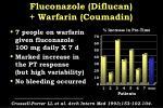fluconazole diflucan warfarin coumadin