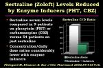 sertraline zoloft levels reduced by enzyme inducers pht cbz