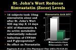 st john s wort reduces simvastatin zocor levels