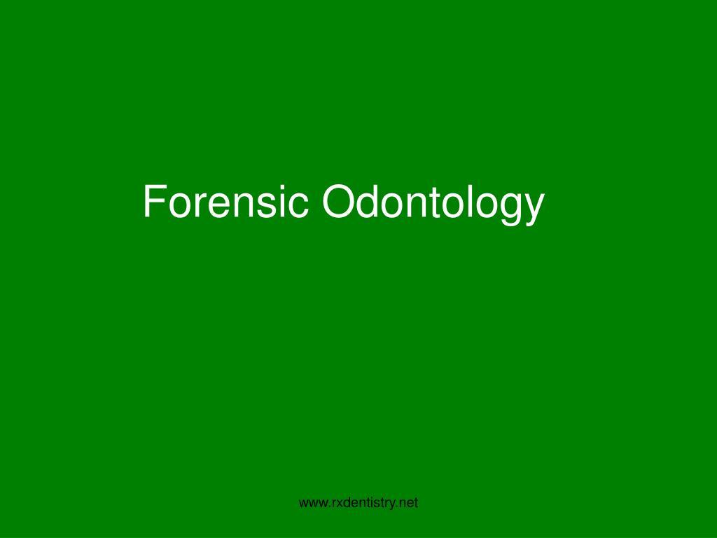 forensic odontology l.