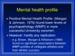 mental health profile