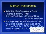 method instruments