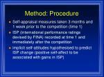 method procedure