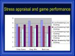 stress appraisal and game performance