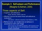 three aspec ts of self