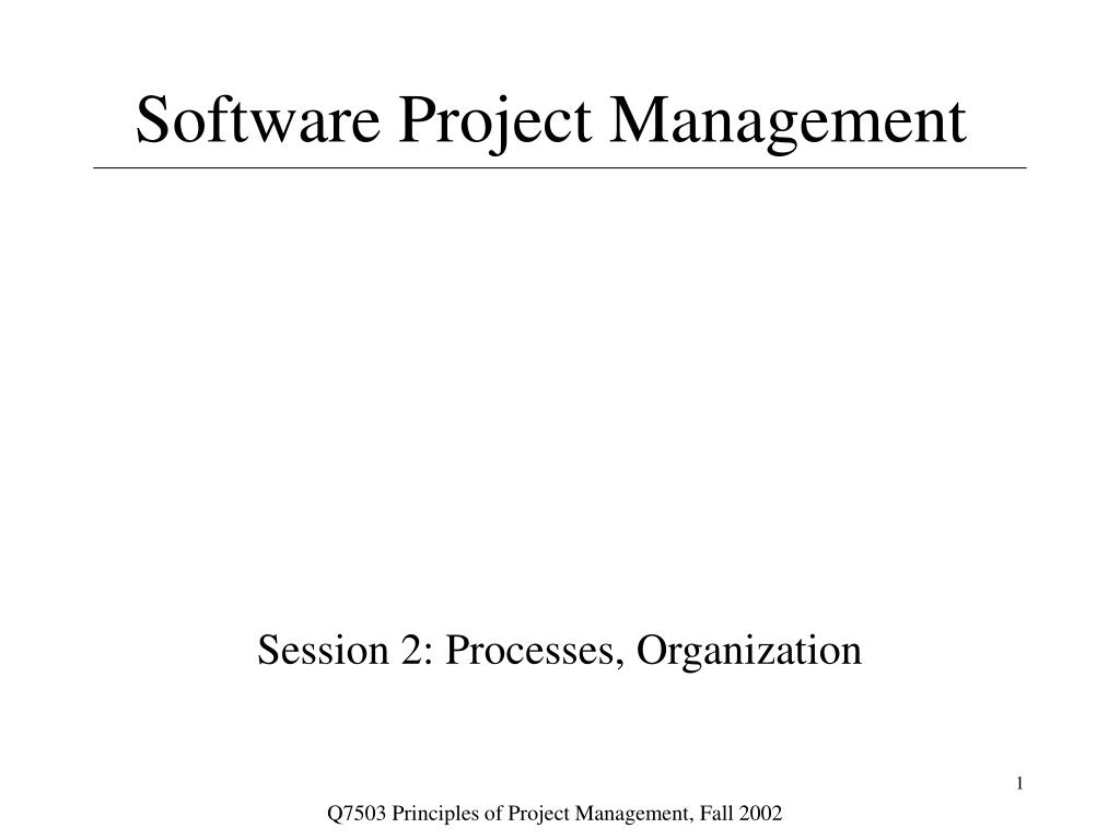 software project management l.