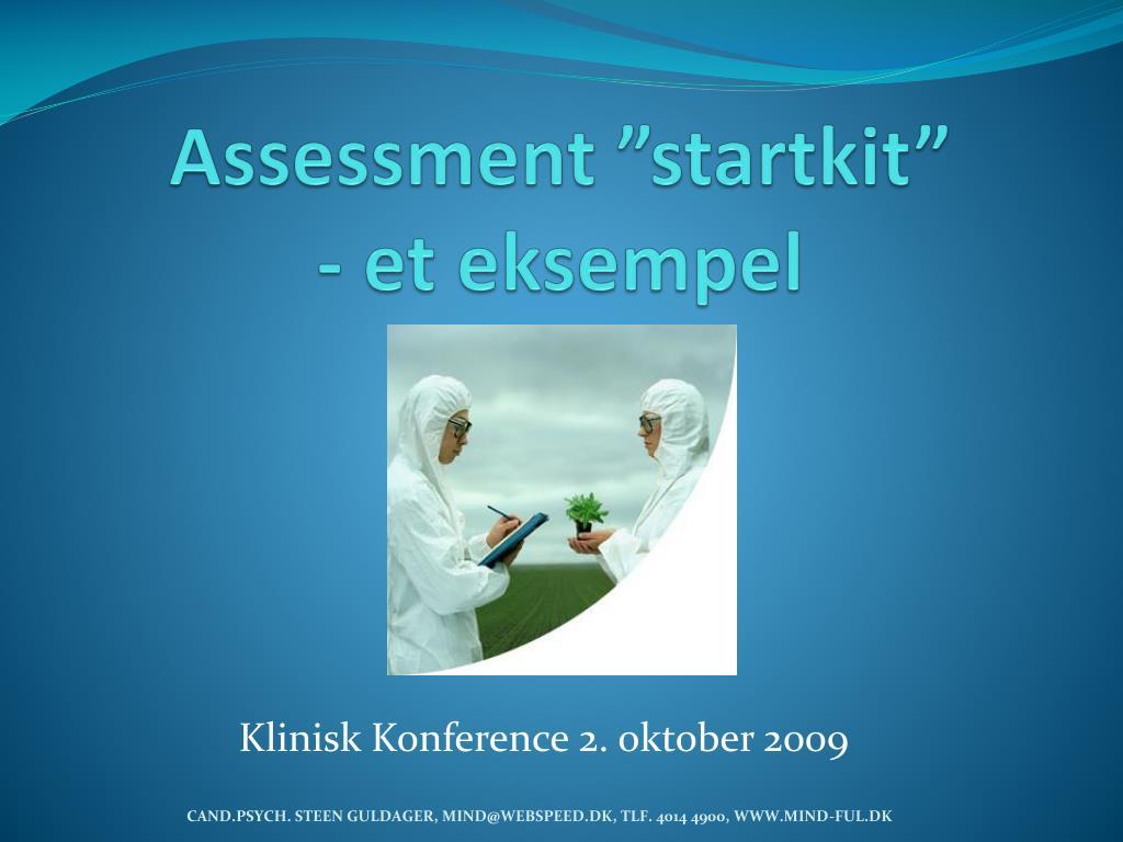 assessment startkit et eksempel l.