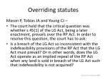 overriding statutes30